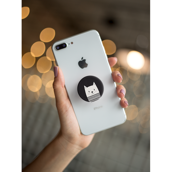 Mime Cat Pop Socket Grip - Curious Cat Company
