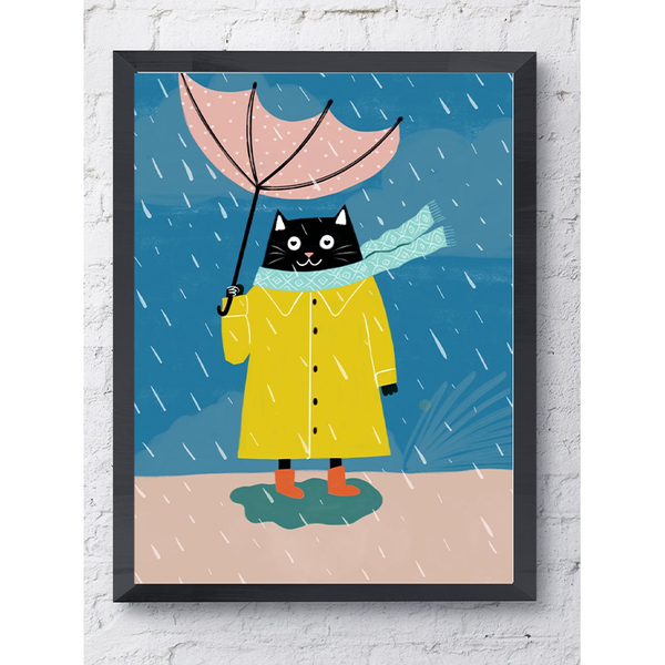 Rains & Cats - Framed Poster
