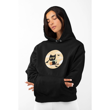 Load image into Gallery viewer, Black Witch Cat Hoodie - Unisex
