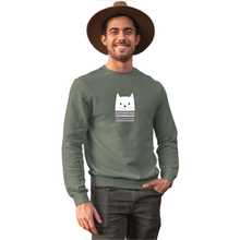 Load image into Gallery viewer, Mime Cat Sweatshirt - Unisex - Curious Cat Company