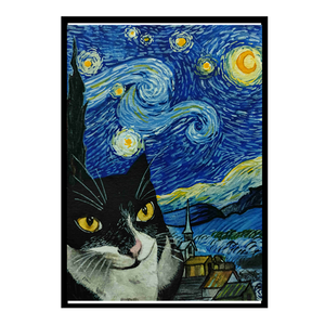 Starry Night with Meni - Poster - Curious Cat Company