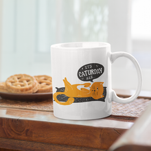 Load image into Gallery viewer, Caturday Mug - Curious Cat Company