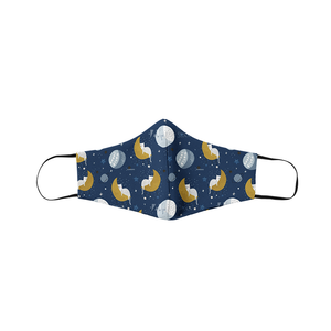 Moon, Stars & Cats Face Mask - Curious Cat Company