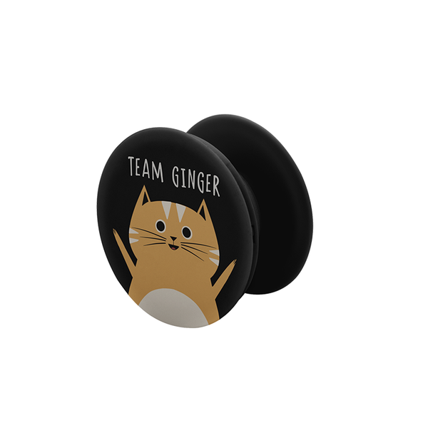 Team Ginger Pop Socket Grip - Curious Cat Company