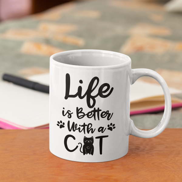 Life's Better With Cat Mug