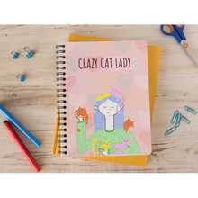 Load image into Gallery viewer, Crazy Cat Lady Notebook