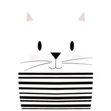 Load image into Gallery viewer, Mime Cat - Boy's Tee - Curious Cat Company