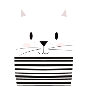 Mime Cat - Boy's Tee - Curious Cat Company