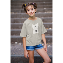 Load image into Gallery viewer, Hearty Cat - Girl's Tee - Curious Cat Company