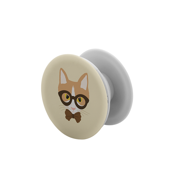 Hipster Cat Pop Socket Grip - Curious Cat Company