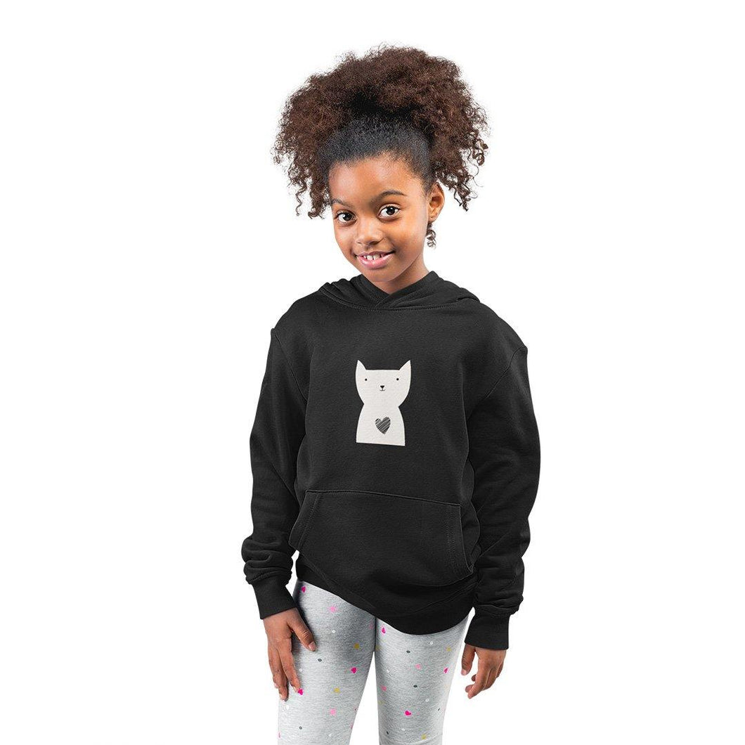 Hearty Cat Kids Hoodie - Unisex - Curious Cat Company
