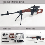1Pcs Coated Gun Model Sniper Rifle 1:6 Assembly Kits Weapon for 12Inch Action Figure Collection Toy