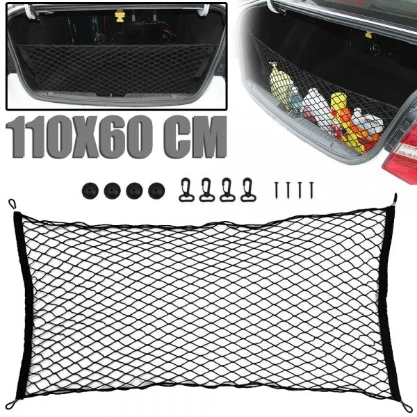 110x60cm Car Cargo Net Nylon Elastic Mesh Luggage Storage SUV Pickup Truck