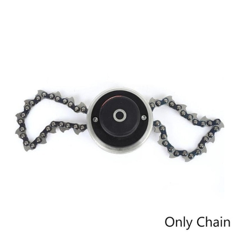 1 Pair Coil Chain Brushcutter Garden Grass for Lawn Mower Trimmer Head Only Chain