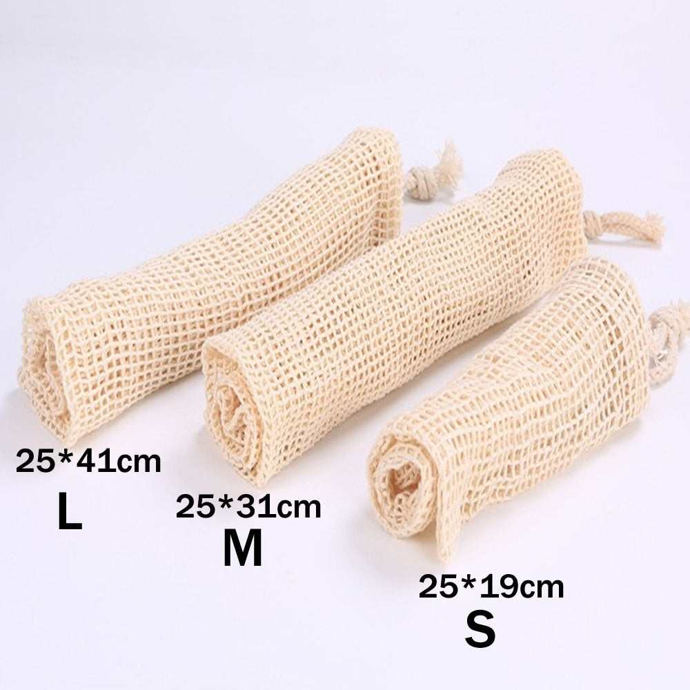 Cotton Mesh Vegetable Bags Produce Bag Reusable Cotton Mesh Fruit Vegetable Storage Bag Kitchen Storage Bag Shopping Bag