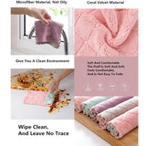 2PCS Super Absorbent Microfiber Kitchen Dish Cloth High-efficiency Tableware Household Cleaning Towel Kitchen Tools Gadget Cosina Rag