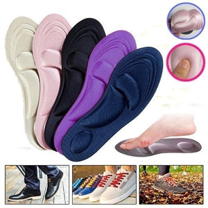 Unisex 4D Orthotic Arch Support Sponge Insoles Sport Comfort Shoe Shock Absorb Gel Heel