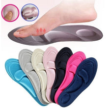 Load image into Gallery viewer, Unisex 4D Orthotic Arch Support Sponge Insoles Sport Comfort Shoe Shock Absorb Gel Heel