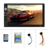 7' Double Din Bluetooth Car Radio HD Touch Screen Car MP5 Player  Support Android/ Iphone Mirror Link