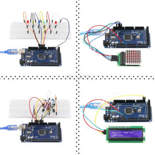 Load image into Gallery viewer, The Most Complete Starter Kit with Tutorial for Arduino Adeept Ultimate Starter learning Kit for Arduino MEGA 2560 LCD1602 Servo Motor