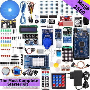 The Most Complete Starter Kit with Tutorial for Arduino Adeept Ultimate Starter learning Kit for Arduino MEGA 2560 LCD1602 Servo Motor