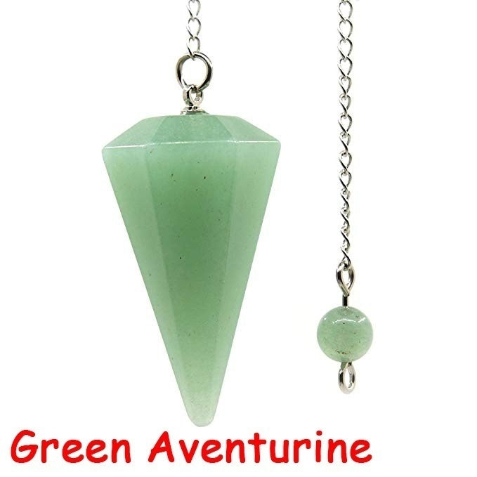 Reiki Pendulum Natural Stone Amulet Healing Crystal Pendant Meditation Hexagonal Pendulums for Men Women