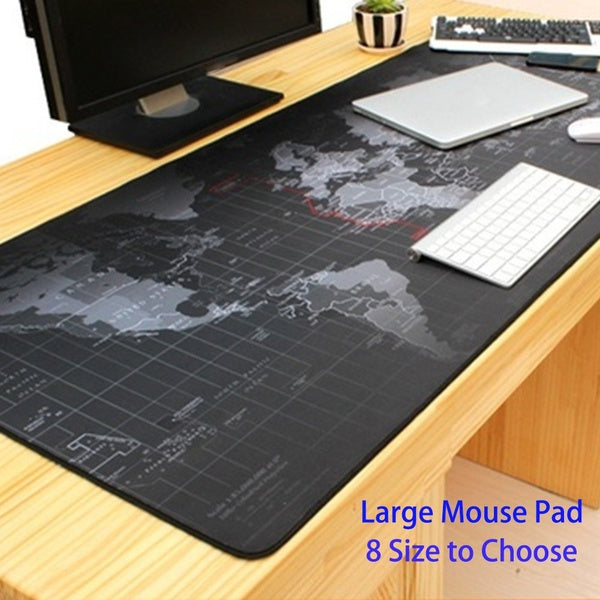 World Large Mousepad Classic World Map Mouse Pad