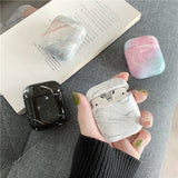Fashion Marble Pattern Hard Case for Airpods Wireless Headphones Earbuds Airpods Case