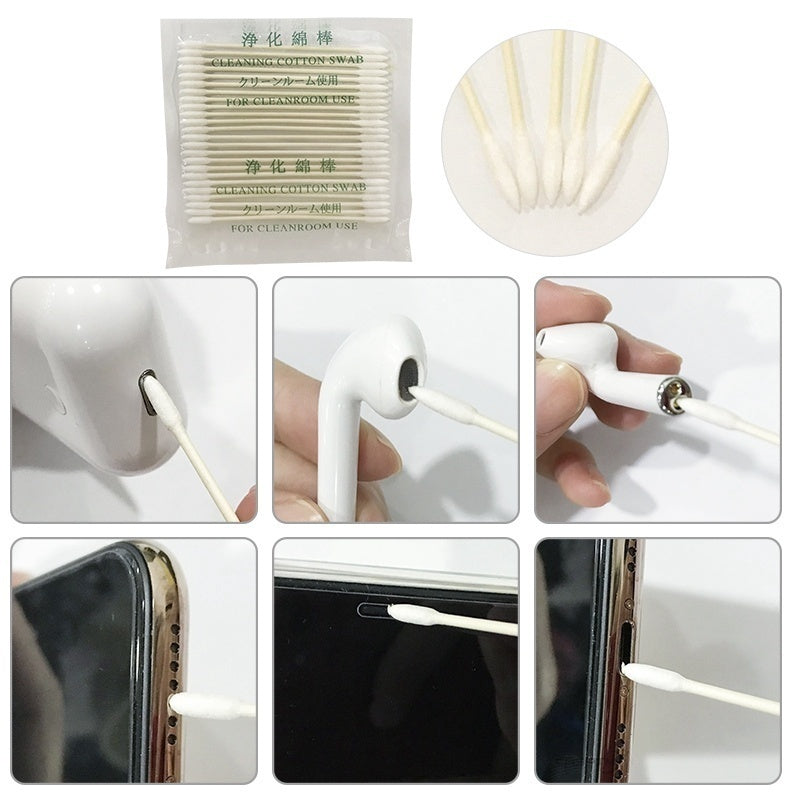 75PCS(3 Bag) Cotton Disposable Stick for Apple Airpods Airpod Case Cleaning Tool for AirPods Earphone Phone Charge Port Apple Airpods