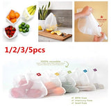 1/2/3/5pcs washable mesh produce bags  Eco-Friendly vegetable toy mesh bag grocery storage camping beach  reusable food bag