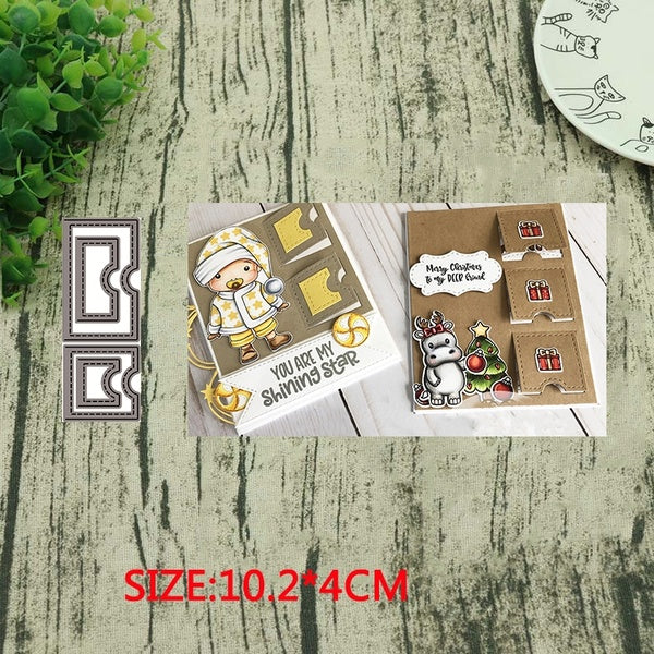 Metal cutting dies tag collage Scrapbook PAPER CRAFT card album stencils craft die