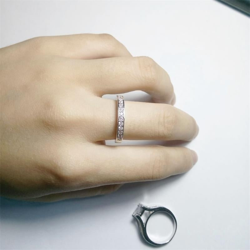 Couple rings 316L Stainless Steel & Titanium Princess Engagement Wedding Band Ring Jewelry Set His and Hers Fashion Ring