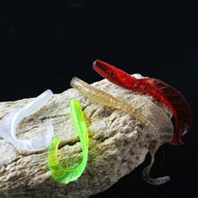 Load image into Gallery viewer, 10/20pcs Single Tail Soft Worm Fishing Lures 5 Colors 6cm 1.8g Capuchin maggot Leaves Bait Soft Lure Fishing Tackle