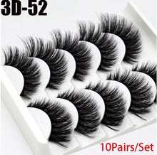 Load image into Gallery viewer, 10Pairs Multipack Natural False Eyelashes Soft Cross Mink Lashes Multilayer Fake Mink Eyelashes Women Makeup Tools