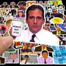 Load image into Gallery viewer, 50pcs/set America TV The Office Cartoon Sticker Waterproof For Laptop Motor Skateboard Luggage Guitar Furniture Decal Toy Stickers