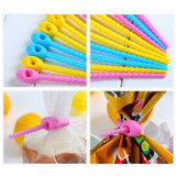 10pcs Food Grade Silicone Bag Ties Cable Management Zip Tie Twist All-purpose Multi-use Bag Clip Bread Tie Food Saver