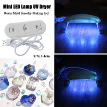 Load image into Gallery viewer, LED UV Resin Ultraviolet Curing  LED Lamp Dryer Kit  Mold Hard  for Silicone Resin Mold Jewelry Making DIY Craft