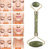 Natural Jade Massage Roller Facial Relaxation Slimming Massage Face Body SPA Massage Facial Beauty Massage Scraping Plate Tool