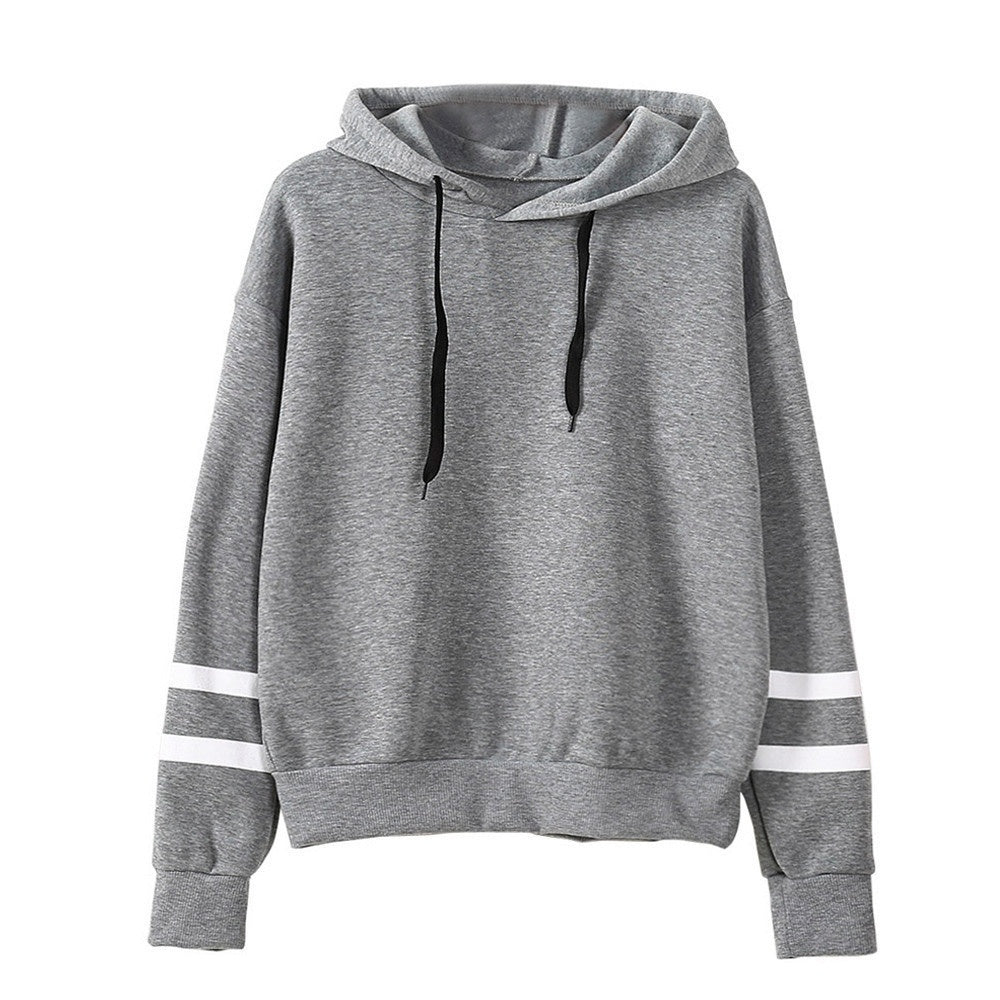 Autumn and Winter Women Long Sleeve Hoodie Sweatshirt Jumper Hooded Pullover Tops Blouse