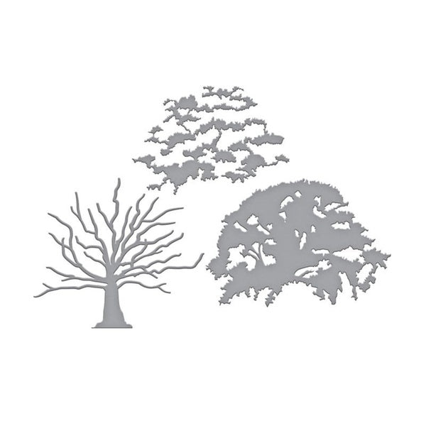 Big Tree Metal Cutting Dies 3D DIY Scrapbooking Carbon Craft Die Photo Frames Wedding Invitation Cards Decor Die Cut