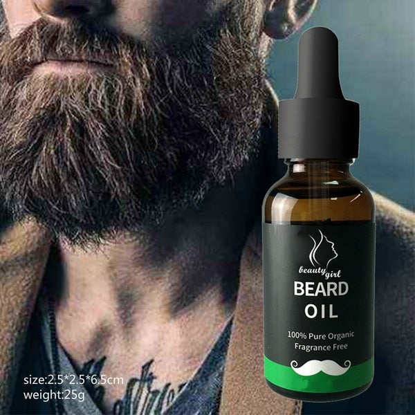 beauty lady 10ML Melao Men'S Beard Oil Strengthens Healthy Beard Growth And Morocca