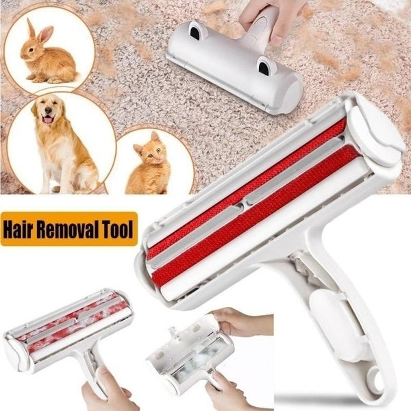 New Dog Cat Hair Pet Remover Brush Fur & Lint Removal Brush For Furniture Couch Carpet Bed Car Seat Clothing