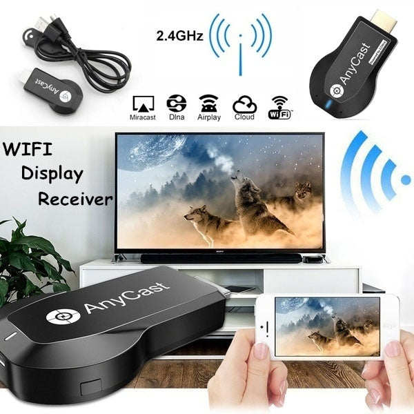 New Wireless 1080P Display Receiver WiFi Projection Screen Push Treasure Screen TV Stick Support