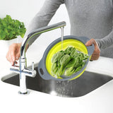 Multifunction Kitchen Collapsible Silicone Colander Fruit Vegetable Strainer Kitchen gadget Creative gifts