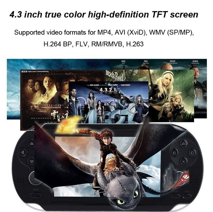 10000 games 16GB ROM Video Game Console Free  4.3 Inch MP4 MP5 Players Handheld Game Player