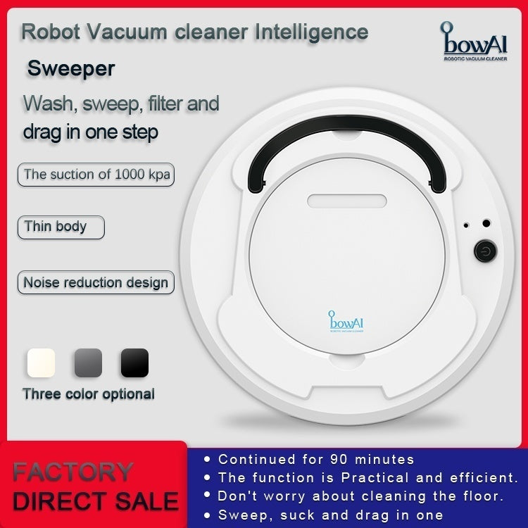 Hot Sell New 1800PA Strong Suction, Multifunctional Smart Floor Cleaner,3-in-1 Auto Rechargeable Smart Sweeping Robot Dry Wet Sweeping Vacuum Clean Robot Cleaner for Home