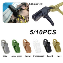 Load image into Gallery viewer, 5/10Pcs Black Alligator Clip Outdoor Camping Tent Clip Windproof Clamp Tent Accessories