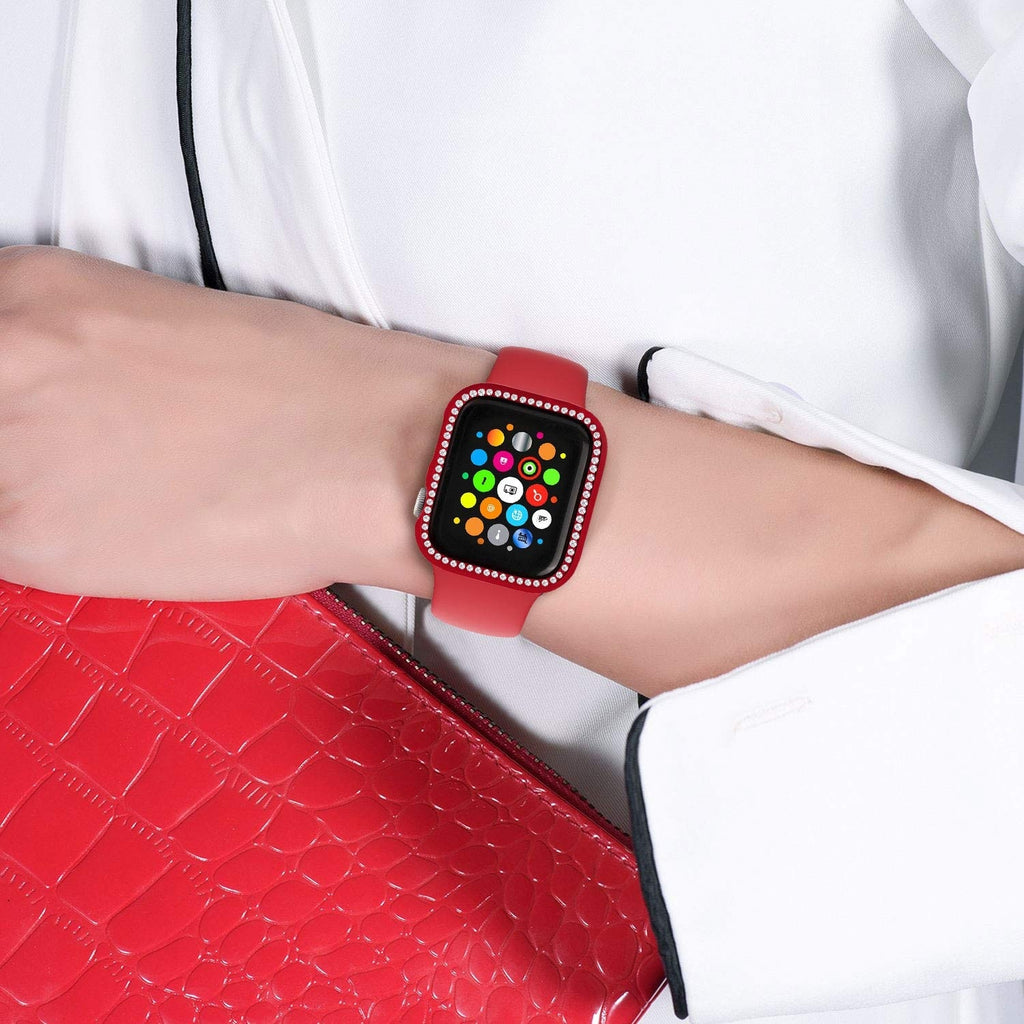 2019 New for apple watch case 38mm 42mm 40mm 44mm,women Diamond Bling Crystal Metal stainless steel Protective case for apple watch Series 4 3 2 1 iWatch cover
