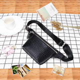 Crocodile Pattern Leather Waist Bag for Women Travel Fanny Pack Shoulder Bag Fashion Bum Bag Belt Bag