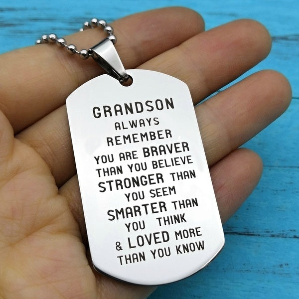To My Grandson or Granddaughter Necklace Gifts For Grandson or Granddaughter Grandson or Granddaughter Birthday Gift Idea
